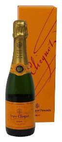 "Veuve Clicquot Ponsardin "" DEMI SEC "" 0.375 L. Champagner in Geschenkpackung, * WINESCOUT7 *. Frankreich"