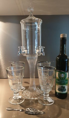 "ABSINTHE-FONTAINE SET "" LA FEE VERTE "", *WINESCOUT7*, SWISS"