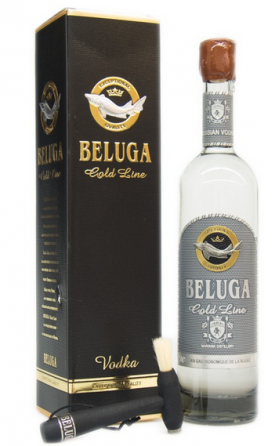 BELUGA * GOLD LINE VODKA ( LEATHER GIFT BOX ) * ,0.7 L.,*WINESCOUT7* RUSSLAND