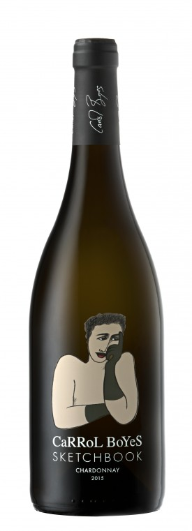 """CARROL BOYES """" SKETCHBOOK """" CHARDONNAY 2015, 0.75 L., *WINESCOUT7*, SAUTH AFRICA - WESTERN CAPE"""