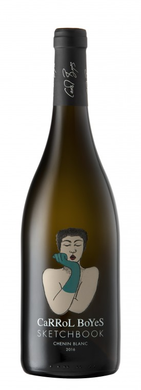 """CARROL BOYES """" SKETCHBOOK """" CHENIN BLANC 2016, 0.75 L., *WINESCOUT7*, SAUTH AFRICA - WESTERN CAPE"""