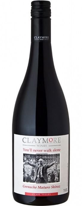 "CLAYMORE ""  YOU`ll NEVER WALK ALONE -  BY FC. LIVERPOOL "", 0.75 L.,*WINESCOUT7*, AUSTRALIEN - CLARE VALLEY"