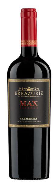 """ERRAZURIZ """"  MAX RESERVA CARMENERE """", 0.75 L.,*WINESCOUT7*, CHILE"""
