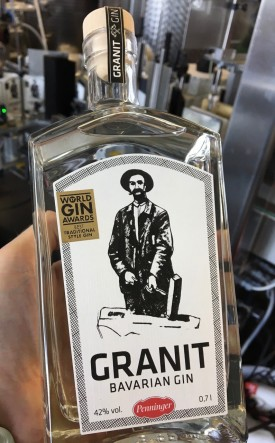 GRANIT BAVARIAN GIN , 0.7 L.,* WINESCOUT7*, OFFICIAL IMPORTER CH + LI