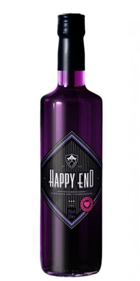 "HAPPY END "" SCHWARZER JOHANNISBEERLIKÖR "", 0.7 L.,*WINESCOUT7* DE."