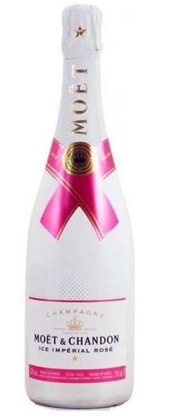 """MOET & CHANDON """" ICE IMPERIAL ROSE """" 0.75 L.,* WINESCOUT7 * FR-Champagne"""
