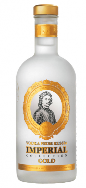 "IMPERIAL VODKA "" COLLECTION GOLD VODKA"" 0.7 L., *WINESCOUT7*, RU-ST. PETERSBURG"