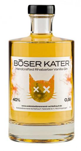 "BÖSER KATER "" RHABARBER - VANILLA  GIN "" , 0.5 L.,*WINESCOUT7"", DE."