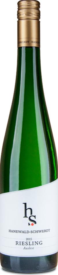 """HANEWALD-SCHWERDT """" RIESLING AUSLESE 2015 """", 0.75 L.,* WINESCOUT7 *, DE-PFALZ"""