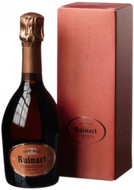 """ RUINART ROSE "" CHAMPAGNER IN GESCHENKVERPACKUNG, 0.375 L.,* WINESCOUT7 *. FR.-CHAMPAGNE"