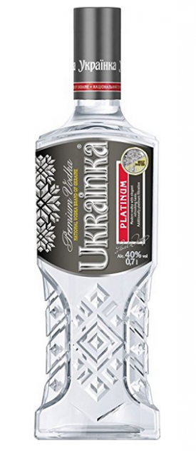 "VODKA ""  UKRAINKA PLATINUM "", 0.7 L., *WINESCOUT7*, UA.- DNIPRO"
