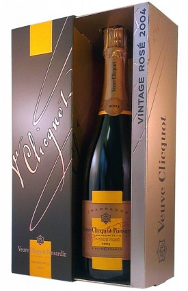 "Veuve Clicquot Ponsardin "" VINTAGE ROSE 2004 "" Champagner in Geschenkpackung, * WINESCOUT7 *. Frankreich"
