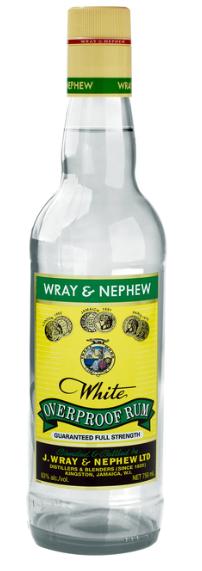 WRAY & NEPHEW OVERPROOF WHITE RUM, 0.7 L, *WINESCOUT*, JAMAIKA