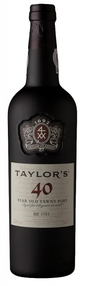 """TAYLO'S PORT """" TAWNY 40 YEARS OLD """", 0.75 L.,*WINESCOUT7*, PORTUGAL"""