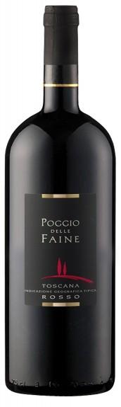 """POGGIO DELLE FAINE """" ROSSO IGT MAGNUM IN HOLZKISTE """" (1,5L),*WINESCOUR7*,IT-TOSKANA"""